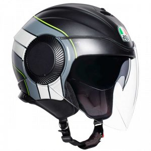 MŨ 3/4 AGV ORBYT BRERA BLACK GRAY YELLOW