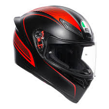 MŨ FULLFACE AGV K1 WARMUP MATT BLACK/RED