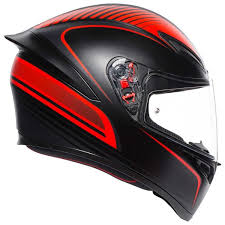 MŨ FULLFACE AGV K1 WARMUP MATT BLACK/RED (2)