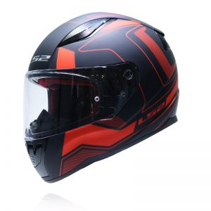 MŨ FULLFACE LS2 RAPID FF353 CARRERA MATT BLACK RED